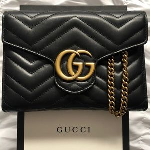 Gucci Marmont Wallet on a chain